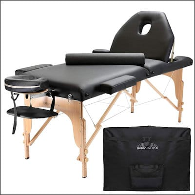 Saloniture Professional Portable Massage Table with Backrest review