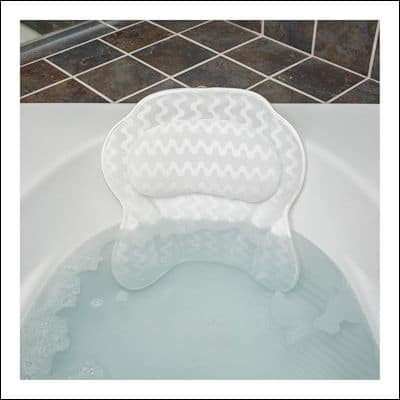 Full Body Bath Pillow Plush Quilted Bathtub Longer Mat with 3D Air Mesh Tech